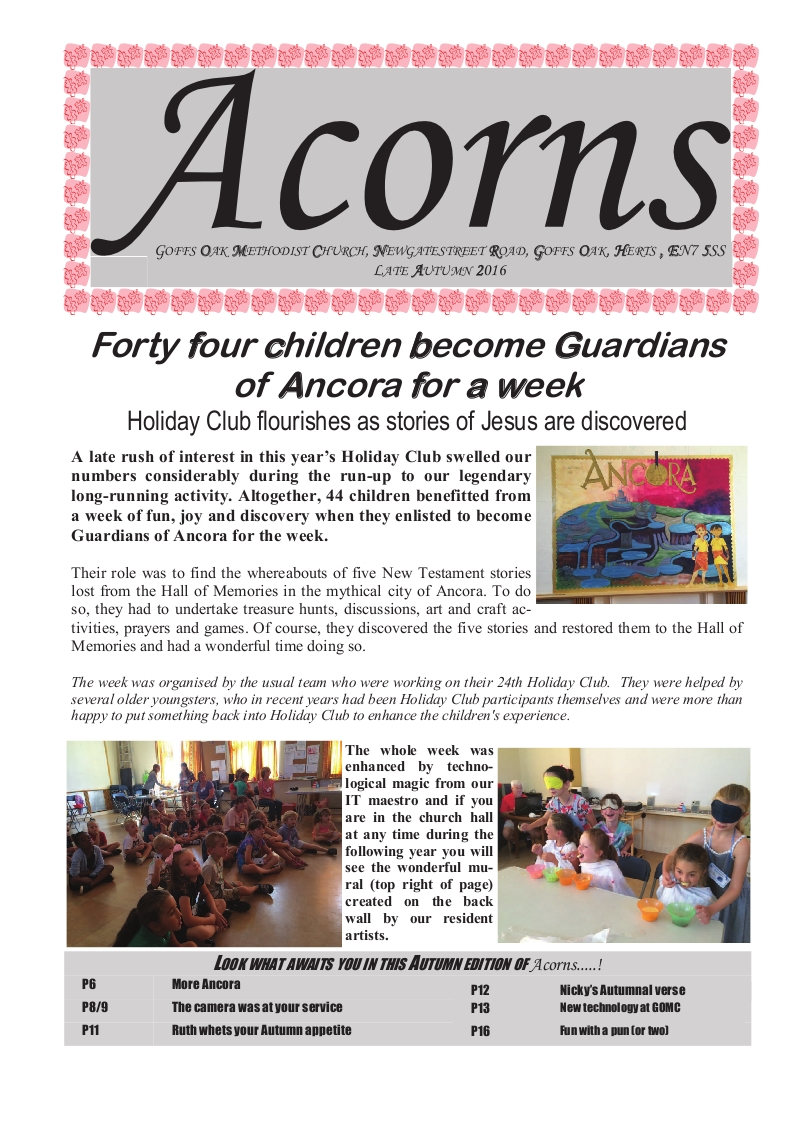 Acorns Autumn 2016